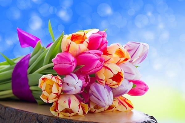 Цветы девочкам 5, 6, 7, 8 класса на 8 марта